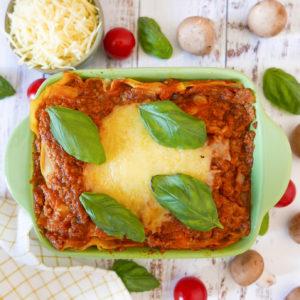 Lasagne au poulet et aux champignons