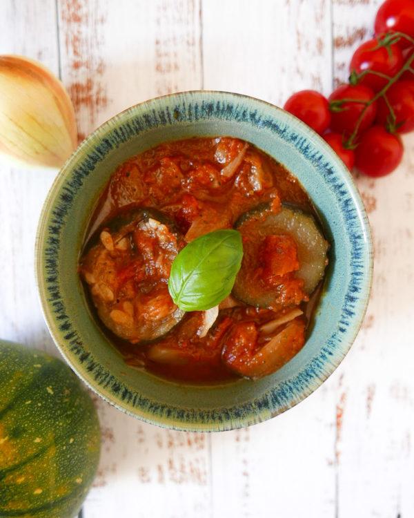Ratatouille de courgettes et tomates
